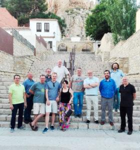 Visita al castillo de Almansa en accion inversa junio 2019